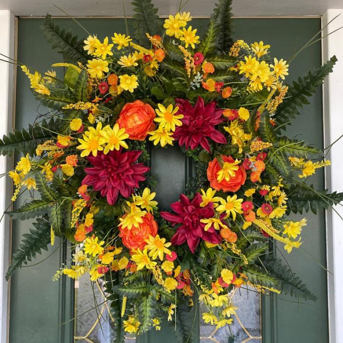 Summer Front Door Wreath
