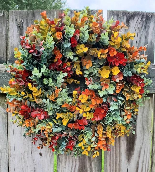 Fall Eucalyptus Farmhouse Wreath