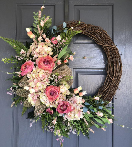 Summer wreaths for front door - one-of-a-kind masterpiece