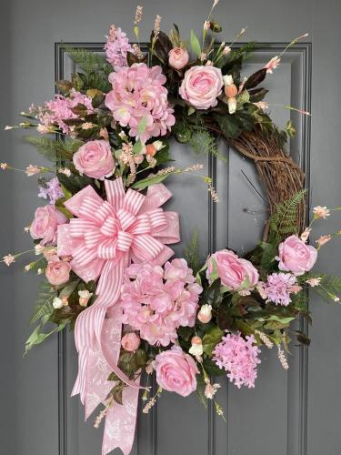 Pink Annual Garland-Colorful Feeling!This is the latest way to welcome summer