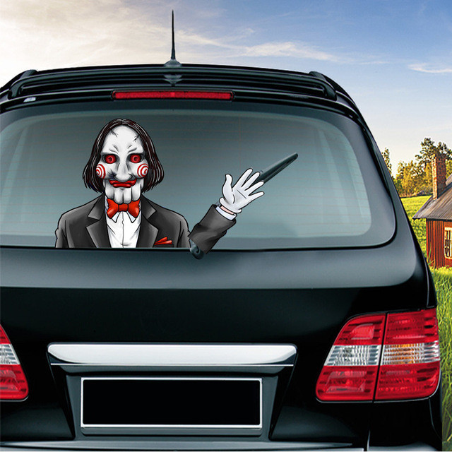 🔥Last Day 50%OFF🔥Halloween funny car wiper sticker-💖Buy 4 Free Shipping