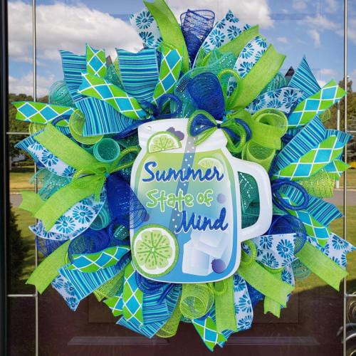 Blue Beach Summer Wreath