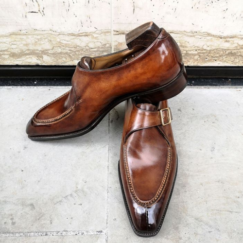 Side Buckle Dress Shoes