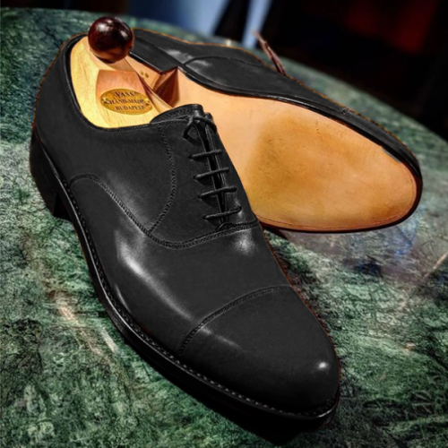 Handmade Leather Shoes Formal Texture Shoes