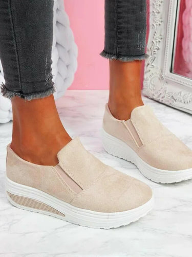 Casual Simple Stitching Platform Shoes