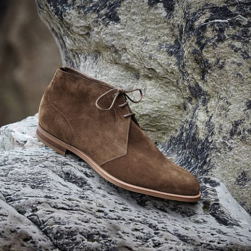New Fashion Hot Sale Suede Leather Lace-up Casual Chukka Boots