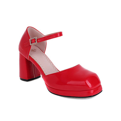 Women's Square Toe Chunky Heel sandals