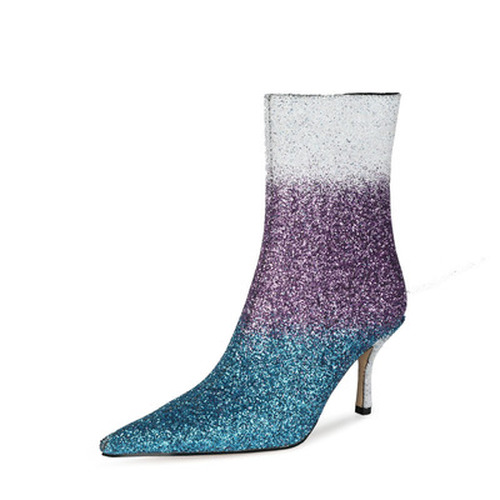 Color Gradient Pointed Toe Booties