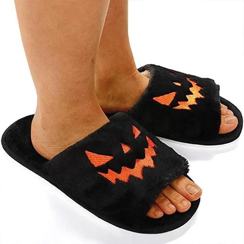 Halloween Pumpkin Lamp Slippers