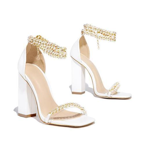 Fish Mouth Banquet Solid Color High Heels