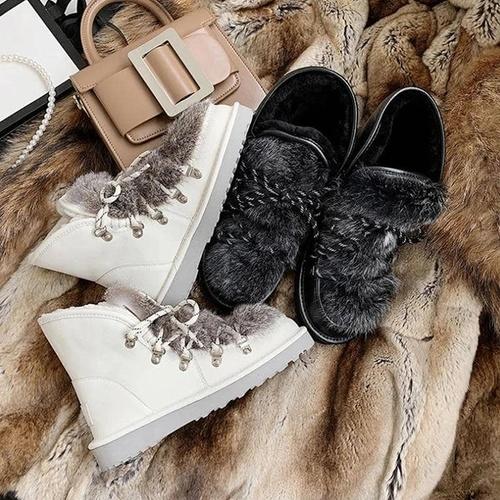 Rabbit Fur Snow Boots