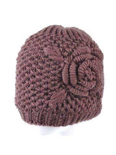 3D Flower Knitted Warm Hat