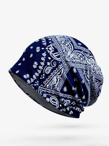 Personalized Ethnic Printed Warm Hat
