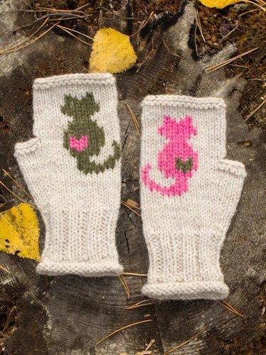 Cat half Finger Gloves