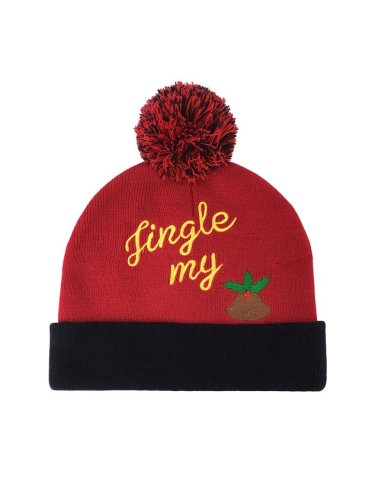 Christmas Letter Fur Ball Warm Hat