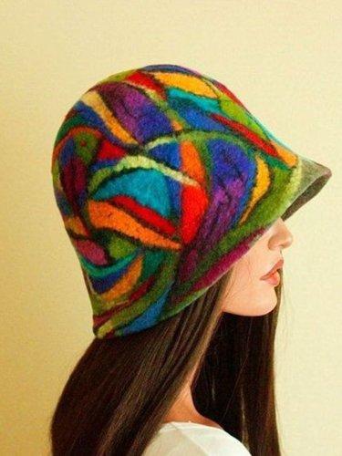 Coloured felt hats