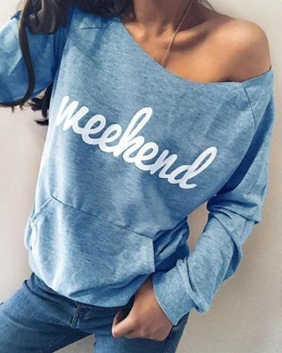 Casual Crew Neck Printed Long Sleeve Blouses Tops