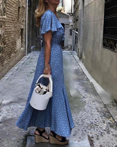 Women Boho Sleeveless Printed Dresses