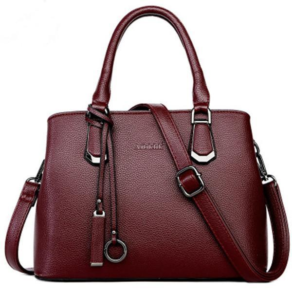 Women Genuine Leather Shoulder Bag Cowhide Crossbody Bag