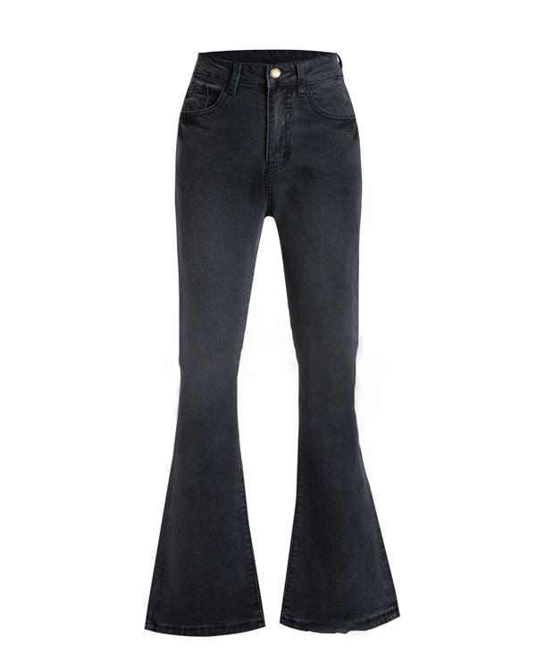 Women's  Vintage Solid Bell-Bottoms Slim Denim Wear Pants