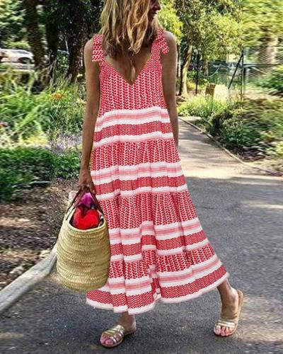 Bohemian Sleeveless Holiday Women Dresses