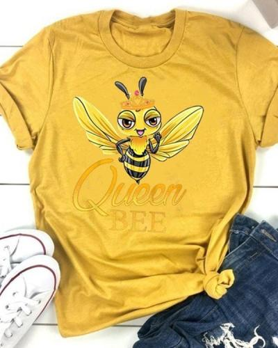 Queen Bee Casual T-shirt Tee