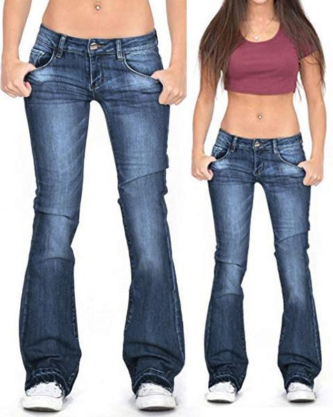 Women's Stretch Casual Denim Bottoms Jeans Pants