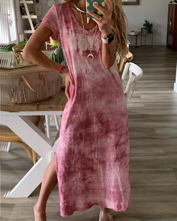 Bohemian V Neck Vacation Beach Maxi Dress
