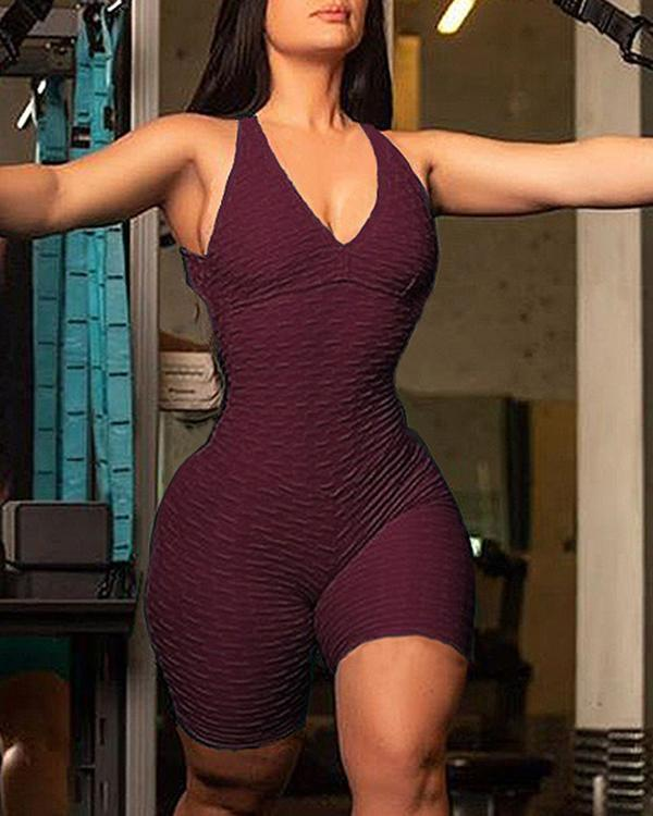 One Piece Tank Top Sleeveless Halter Neck  Romper