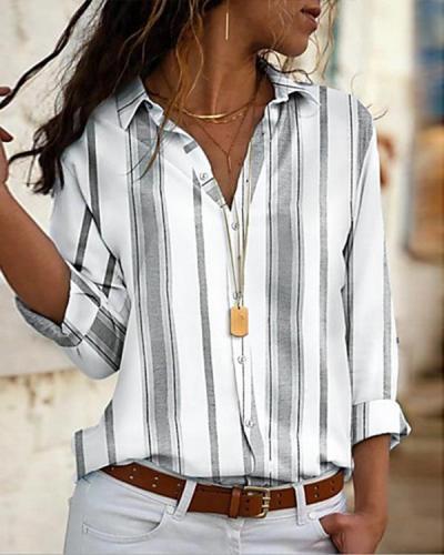 Women's Daily Shirt Striped Shirt