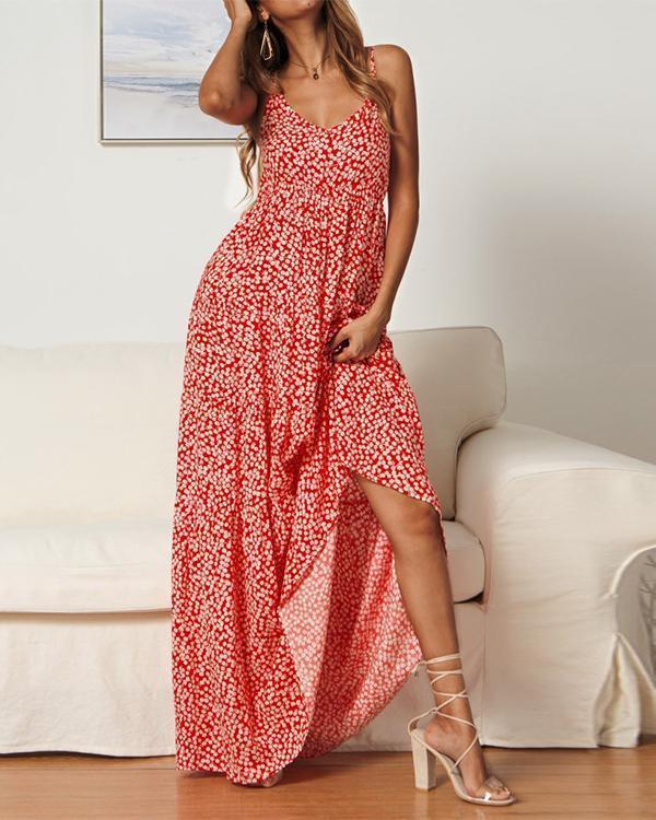 Women Summer Holiday Floral Maxi Kaftan Dress