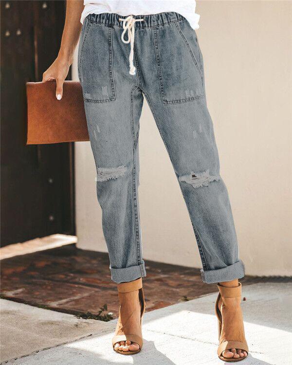Women's Classic Urban Fashion Denim Bottoms Jeans Skinny Pants