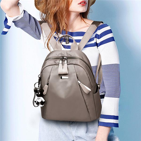 Women's Casual Oxford Backpack Multi-function Shoulder Bag