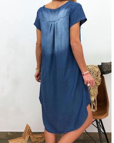 Women's Denim Dress Robes Vestidos clothes