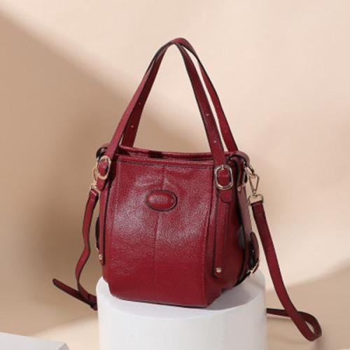 Women Genuine Leather Large Capacity Handbag Crossbody Bag