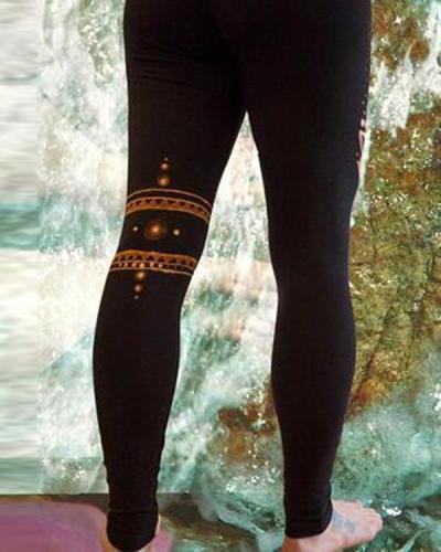 Women's Vintage Tribal Stretch Skinny Print Leggings Pants