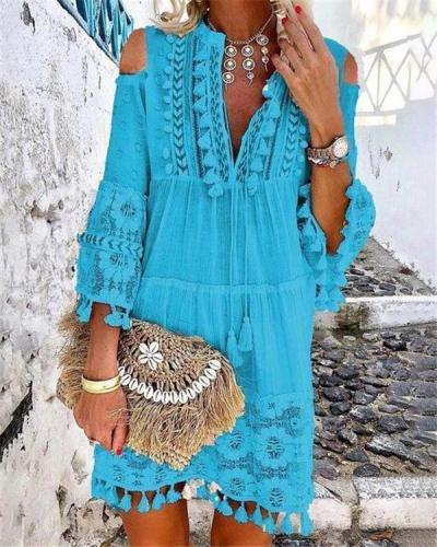 Bohemian Summer Holiday Daily Fashion Short Mini Dresses