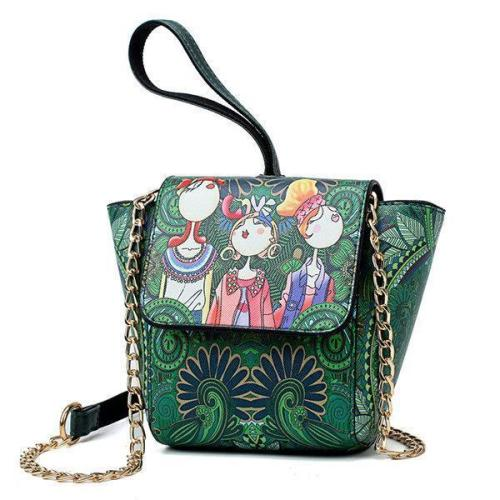 National Stylish Green Flap Shoulder Bags Crossbody Bags Clutch