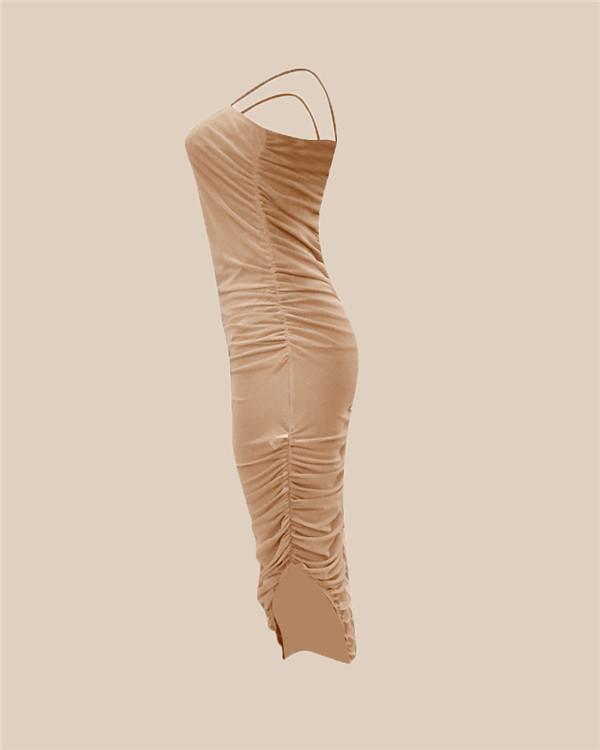 Strap Dress Sleeveless Casual Women Plus Size Mini Body-Con Dress