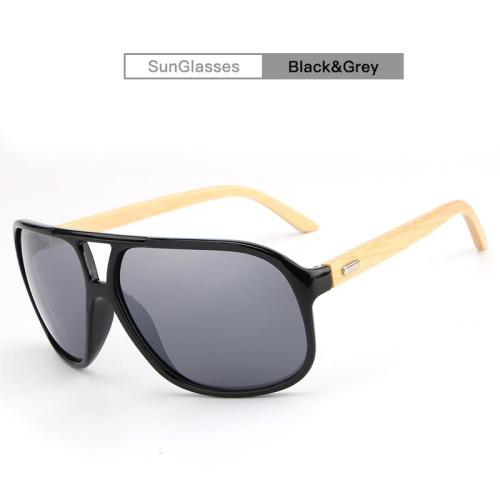 Vintage Wild Unisex Bamboo Frame Sun Glasses