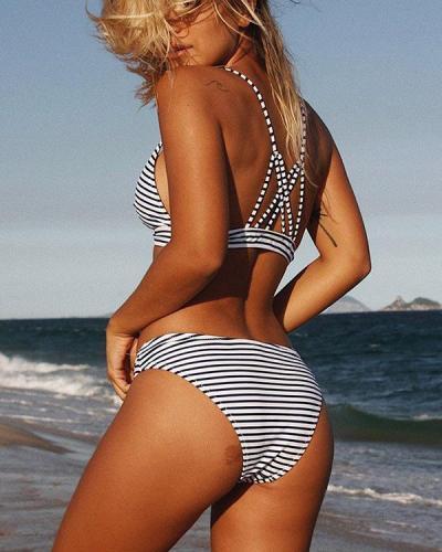 Hit Summer Stripe Bikini Set