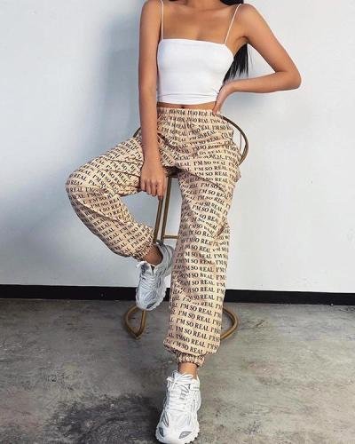 Women's Casual Loose Low Waist Sports Pants