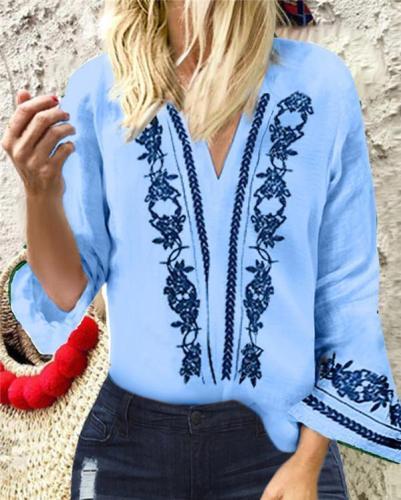Trumpet Sleeve Plus Size Holiday Summer Women Shirt Tops