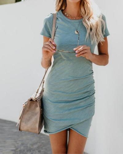 Women Sexy Irregular Long Sleeve Bodycon Mini Dress