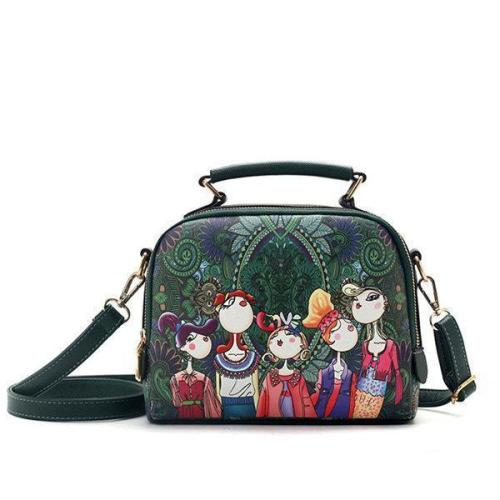 Women Bohemian Forest Series Crossbody Bag Print Flower Handbag