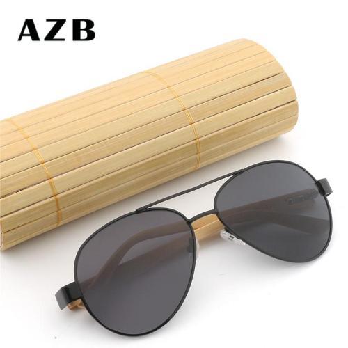 Frog Mirror Wild Unisex Bamboo Frame Sun Glasses
