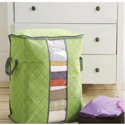 Foldable Storage Bins Clothes Blanket Closet Organizer Bag Case