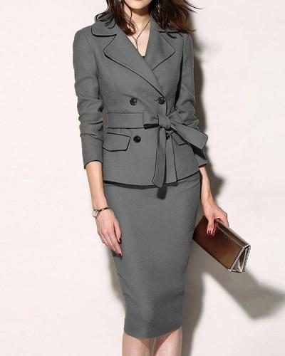 Women's Suit 2 Pieces Set Formal Suits Womens Sexy Sheath Mini Dress