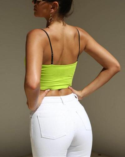 Contrast slim printed short vest