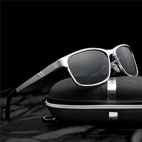 Aluminum Polarized Fashion Vintage Pilot Sun Glasses With Box
